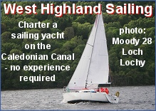 Yacht charter on the Caledonian Canal - no experience necessary